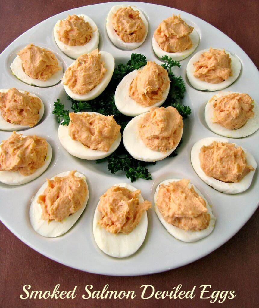 Put a twist on traditional deviled eggs with these Smoked Salmon Deviled Eggs made with puréed smoked salmon and goat cheese perfect for Easter.