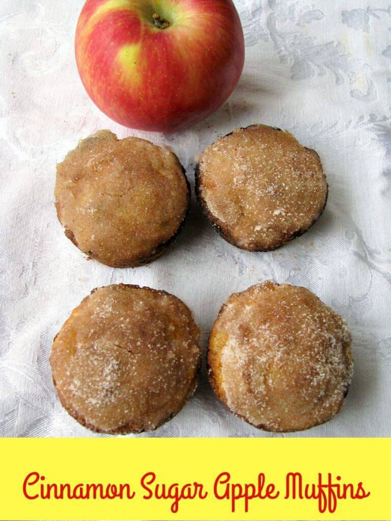 Sweet Cinnamon Sugar Apple Muffins, apple muffins topped with a cinnamon sugar glaze, are perfect for breakfast, brunch, or as a mid-day snack.