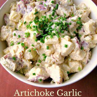 Artichoke Garlic Potato Salad #CookoutWeek