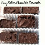 Photo of Easy Salted Chocolate Caramels in a white plastic container