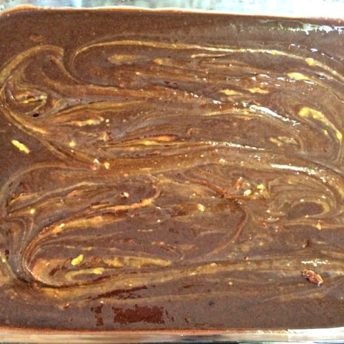 Photo of swirled cake mix